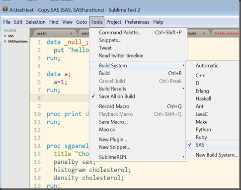 SublimeText2_SAS_build