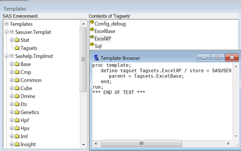 Get Started with SAS Tagsets.ExcelXP
