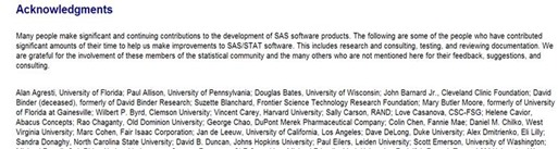 Community Contributors to SAS/STAT